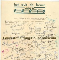 Image of 1987.10.31 - Hot Clube de France autographs, 1952