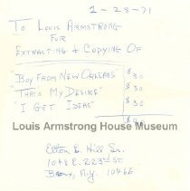 Image of 1987.10.35 - Invoice for music copying