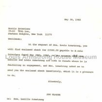 Image of 1987.10.51 - Letter from Joe Glaser to Morris Interiors