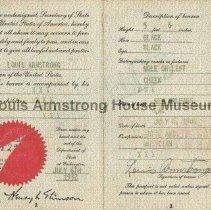 Image of 1987.10.57 - Inside of 1932 passport