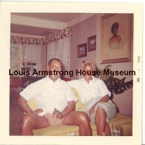 """Image of 1987.14.4224-1987.14.4288 - Louis Armstrong Collection: Snapshots, Box 7 """"Louis with Lucille."""""""