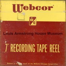 Image of 1987.3.0154 - [Reel-to-reel tape recorded by Louis Armstrong]