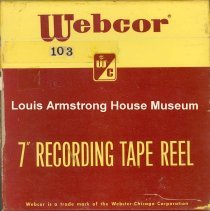 Image of 1987.3.0172 - [Reel-to-reel tape recorded by Louis Armstrong]
