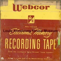 Image of 1987.3.0212 - [Reel-to-reel tape recorded by Louis Armstrong]