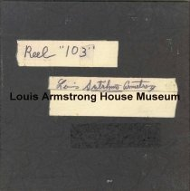 Image of 1987.3.0403 - [Reel-to-reel tape recorded by Louis Armstrong]