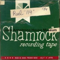 Image of 1987.3.0414 - [Reel-to-reel tape recorded by Louis Armstrong]
