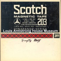 Image of 1987.3.0579 - [Reel-to-reel tape recorded by Louis Armstrong]