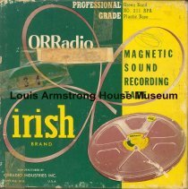 Image of 1987.3.0063 - [Reel-to-reel tape recorded by Louis Armstrong]