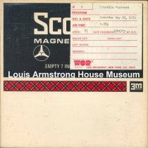 Image of 1987.3.0635 - Joe Franklin Show [Reel-to-reel tape containing aircheck featuring Louis Armstrong]