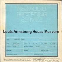 Image of 1987.3.0654 - Newport Jazz [Reel-to-reel tape containing aircheck featuring Louis Armstrong]