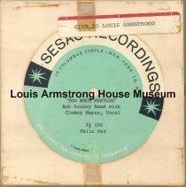 Image of 1987.3.0697 - [Reel-to-reel tape given to Louis Armstrong]
