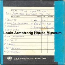 Image of 1987.3.0705 - [Reel-to-reel tape given to Louis Armstrong]