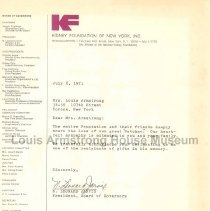 Image of 1987.9.257 - Condolences - Kidney Foundation and Other Donations