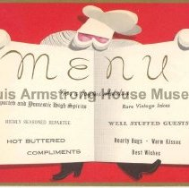 Image of 2008.1.028 - Christmas Cards from Louis and Lucille Armstrong