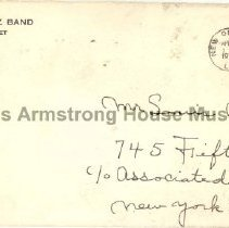 Image of 2008.1.69 - Envelope from Paul Barbarin