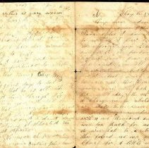 Image of Coutts letter to Sister 1863 o