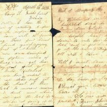 Image of Coutts letter to Mother 1863 o