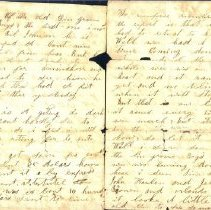 Image of Coutts letter to mother 1863 i