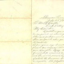 Image of Coutts-Wendt Letter Outside
