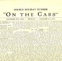 Image of Newspaper, On the cars