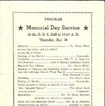 Image of Program, Memorial Day