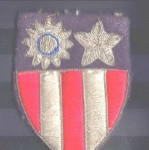 Image of 1989.082.00003 - Patch, Military
