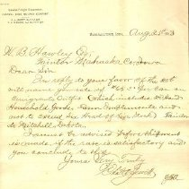 Image of Letter, C.A. Jewett to W.B. Ha