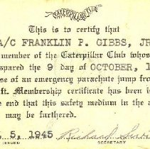 Image of Card, Membership, Caterpillar