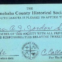 Image of Card, Membership, Minnehaha Co