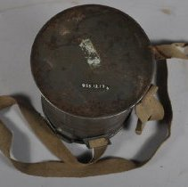 Image of Underside of carrying case for the gas mask