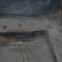 Image of Cutter - interior floor, left side detail