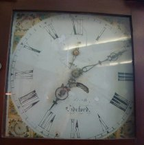 Image of Face and hands of the clock
