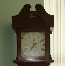 Image of Frontal View of Tall Case Clock (on display c. 2005)