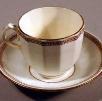 Image of 1970.080.008ab - Set, Cup and Saucer