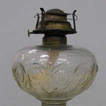 Image of Full view of rear of kerosene lamp
