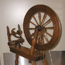 Image of Right end of Kirk Spinning Wheel