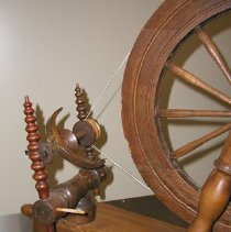 Image of Maidens and flyer of the Kirk Spinning Wheel