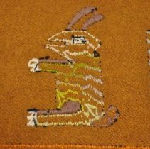 Image of Tablecloth - Underside rabbit motif