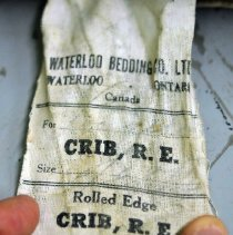 Image of Mattress - Tag label