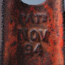 "Image of Close up Label- ""PAT NOV 94"""