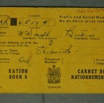 Image of 1961.064.035 - Book, Ration