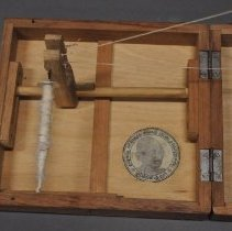 Image of Upright Charkha's Spindle (When Set Up)