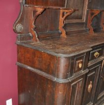 Image of Left End View of Queen's Hotel Sideboard