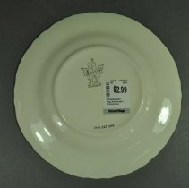 Image of Plate, Commemorative - back
