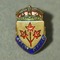 Image of 2014.047.019ab - Badge, Military