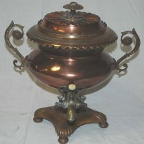 Image of Frontal View of Victorian Tea Urn c. 2004
