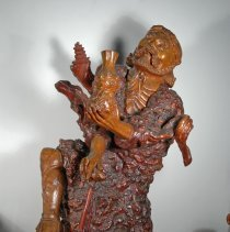 Image of Chinese sculpture frontal upper view