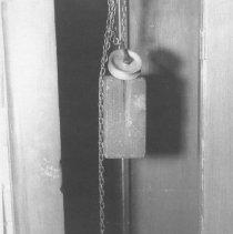 Image of Pendulum & Clockweight (Black & White 1970s view)