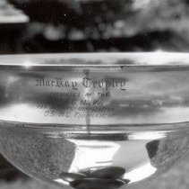 Image of Top view of engraving on trophy (taken in 2000)