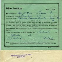 Image of A301 - Certificate, Stock